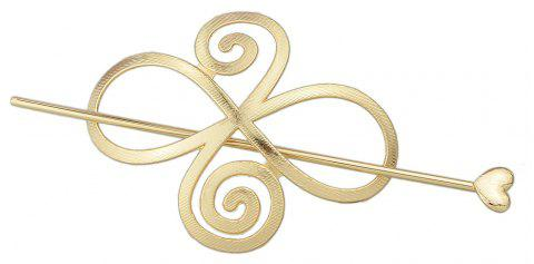 Minimalist Gold Silver Color Flower Hairpin - GOLD