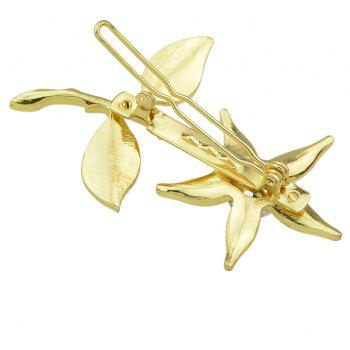 Gold Color Flower Hairpin for Women - GOLD
