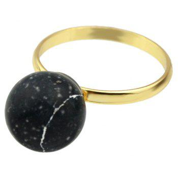Cute Colorful Stone Finger Rings - BLACK ONE-SIZE