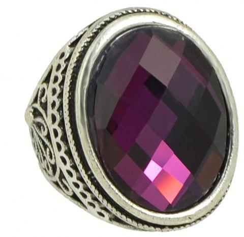 Vintage Large Gemstone Ring for Women - DARK ORCHID US SIZE 8