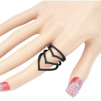Steampunk Shape Hollow-out Geometry Ring - BLACK ONE-SIZE