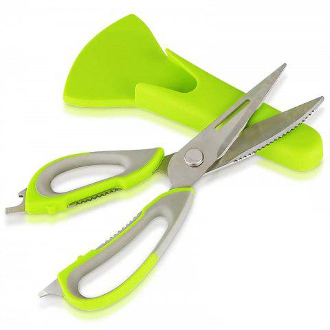 Multi-Function Stainless Steel Scissors - GREEN