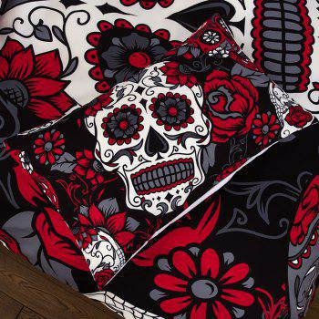 High-Quality Creative 3D Red Skull Three-Piece Suit - multicolor TWIN