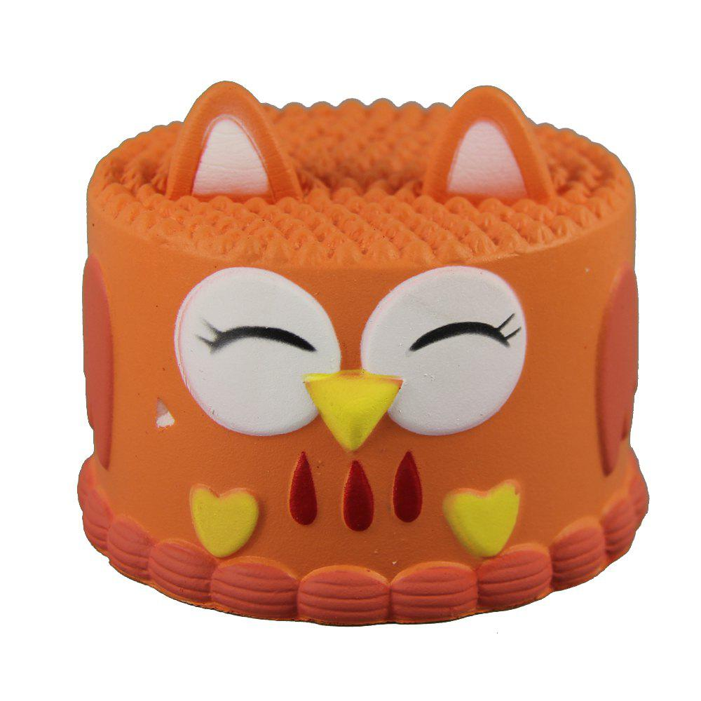 Jouets Squishy Squishy Orange Owl Cake - Orange