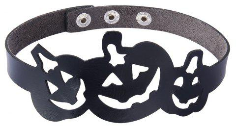Vogue Personality Hollowed Out Pumpkin Neck Ring - BLACK