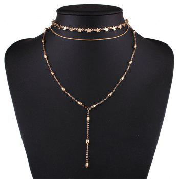 Star Pendant Clavicle Necklace for Women Jewelry Accessories - YELLOW