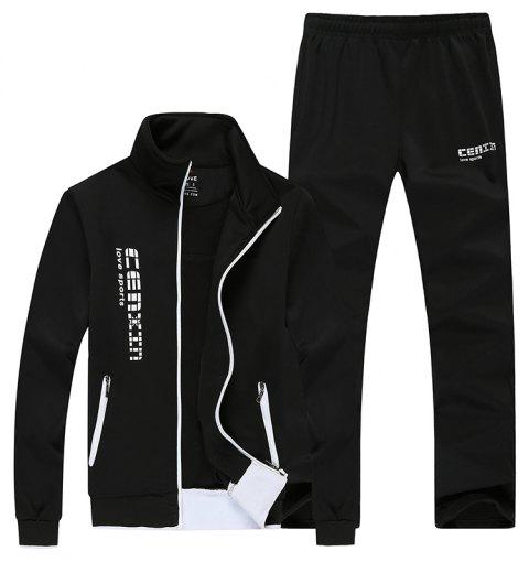 Men Fall Fashion Trend Sports Suit - BLACK M