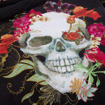 High Quality 3D Flower Skull Three-Piece - multicolor KING