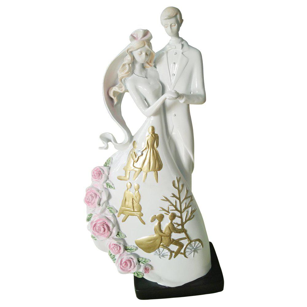 New Journey of Love Lover Decoration - GOLD