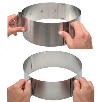 6-12 inch Circle Cookie Round Cutter Mousse Layered Cake Mold Baki - SILVER