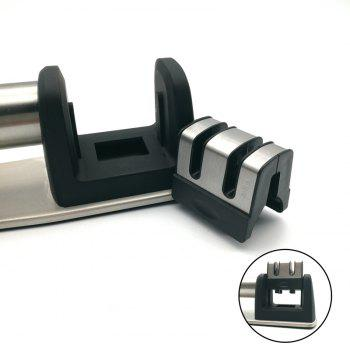 2 Slot Knife Sharpener Manuel - Noir