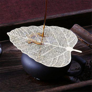 Creative Leaf  Hollow Tea Filter Stainless Steel Strainer Bookmarks - SILVER