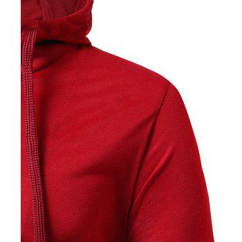 Men's Casual Hooded Slim Long Sleeve T-Shirt T14 - RED 3XL