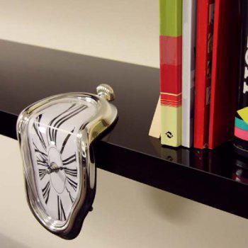 YEDUO Roman Numeral Melting Clock - SILVER