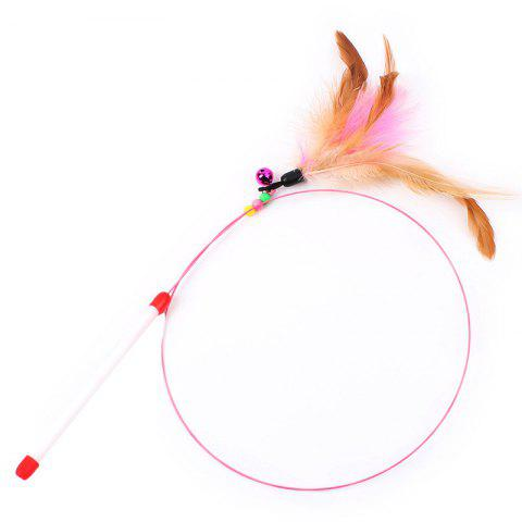 High Toughness Two-color Feather Wire Funny Cat Toy - multicolor