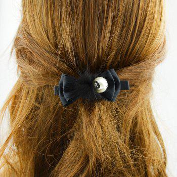 Fashion Sweet Ribbon Bowknot Hairpin - BLACK