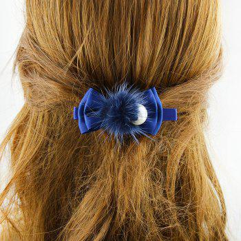 Fashion Sweet Ribbon Bowknot Hairpin - DEEP BLUE