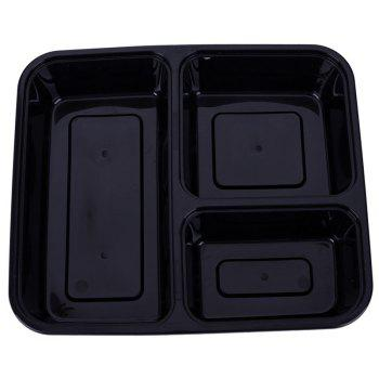 Microwavable Meal Prep Containers Reusable Grade Plastic Food Storage Box - BLACK
