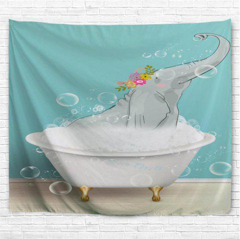 Bathing Elephant 3D Printing Home Wall Hanging Tapestry for Decoration - multicolor W200CMXL180CM