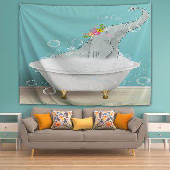 Bathing Elephant 3D Printing Home Wall Hanging Tapestry for Decoration - multicolor W203CMXL153CM