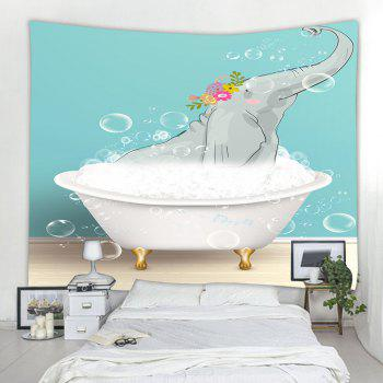Bathing Elephant 3D Printing Home Wall Hanging Tapestry for Decoration - multicolor W229CMXL153CM