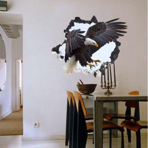 2019 3d wall sticker creative eagle can be removed in multicolor