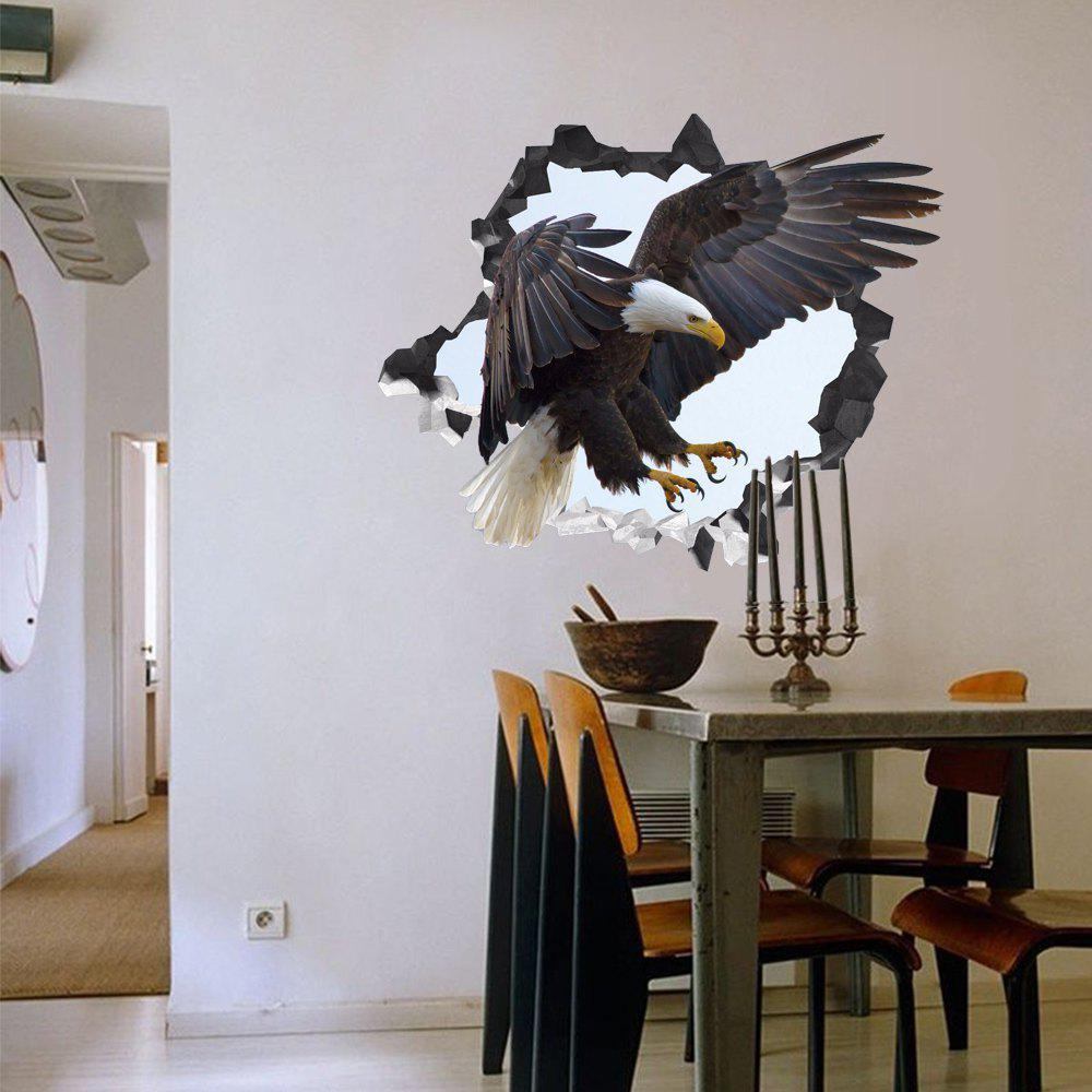 3D Wall Sticker Creative Eagle Can Be Removed - multicolor