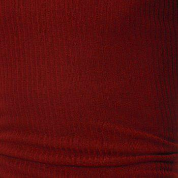 Men's Fashion Stripe Stretch Knit Casual Slim Long-Sleeve Sweater T03 - RED L