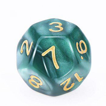Creative Polyhedral Multi-faceted Dice Board Game 7PCS - DARK TURQUOISE