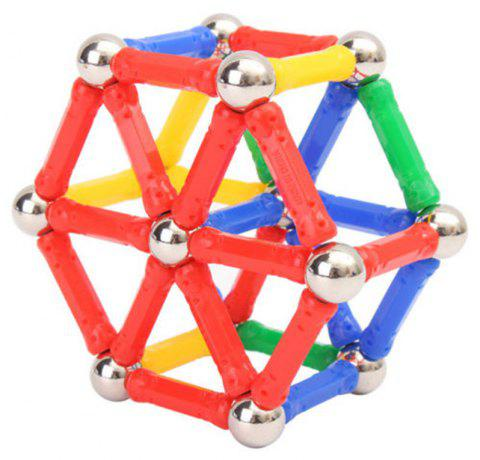 Magnetic Building Block Sticks DIY for Children Educational Gift Toy 37PCS - multicolor A