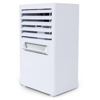 Quiet Personal Table Fan Mini Evaporative Air Circulator Cooler Humidifier - WHITE