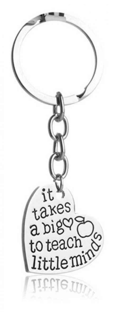 New Letter Big Little Minds Love Keychain Pendant - COPPER