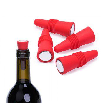 Wine Stoppers  Silicone Reusable - RED