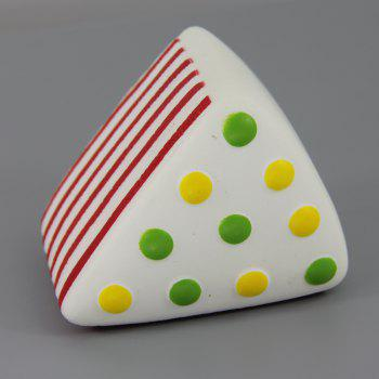 Jumbo Squishy Red Triangle Round Cake Relieve Stress Toys - RED