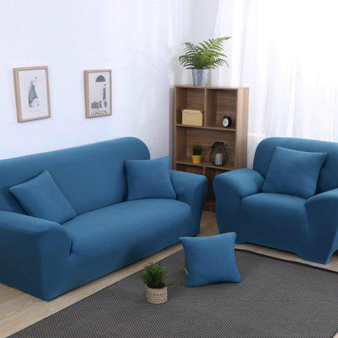 Anti-Skid and All-Wrapped Sofa Cover - BLUE IVY DOUBLE SEATS SOFA:145CM-185CM