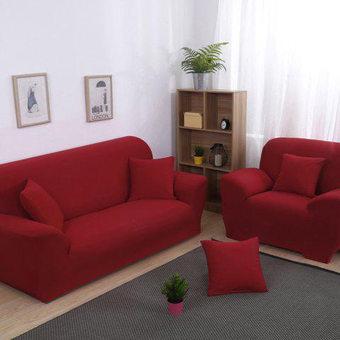 Anti-Skid and All-Wrapped Sofa Cover - RED WINE FOUR SEATS SOFA:235CM-300CM