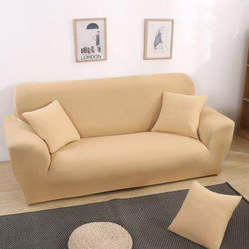 Anti-Skid and All-Wrapped Sofa Cover - BEIGE SINGLE SEAT SOFA:90CM-140CM
