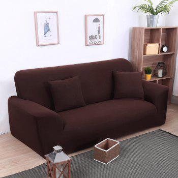 Anti-Skid and All-Wrapped Sofa Cover - DEEP COFFEE DOUBLE SEATS SOFA:145CM-185CM