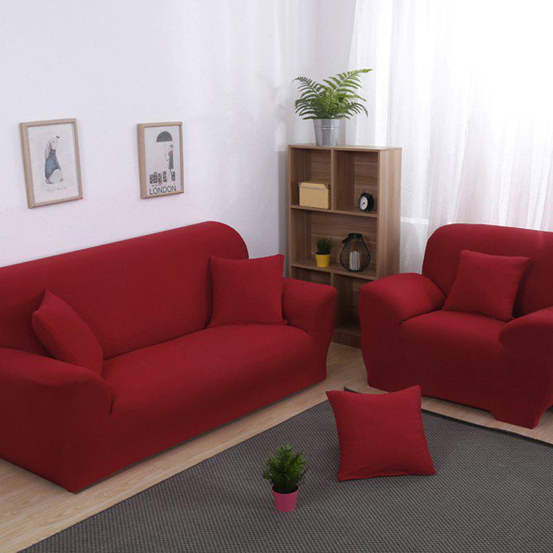 Anti-Skid and All-Wrapped Sofa Cover - RED WINE DOUBLE SEATS SOFA:145CM-185CM