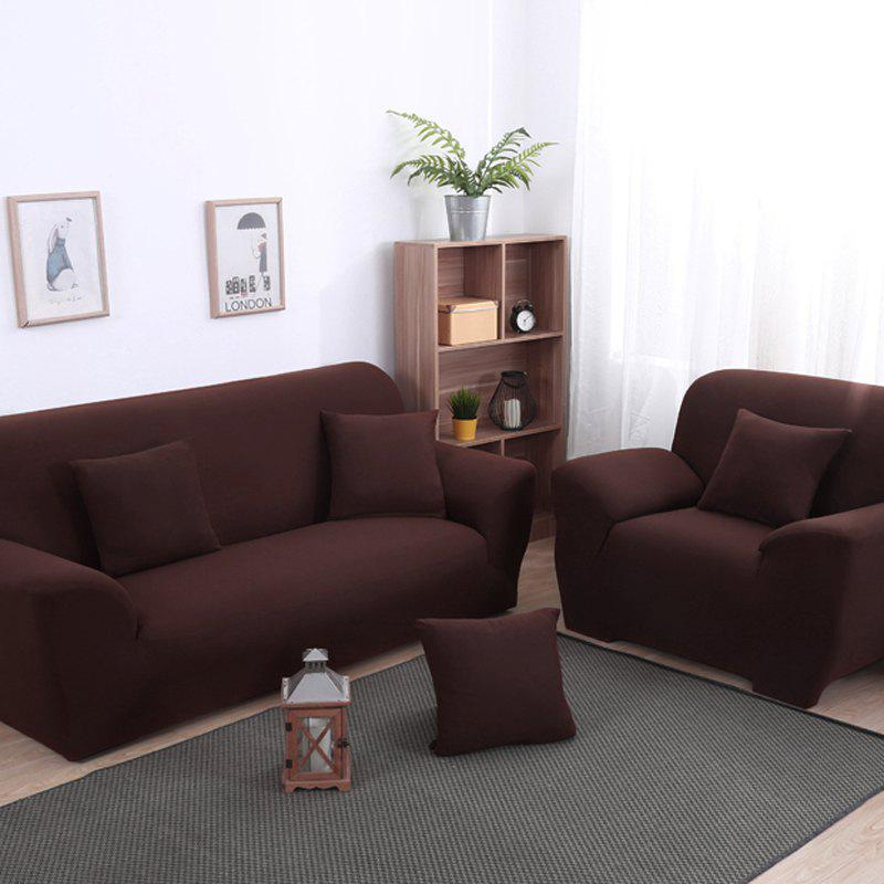 Anti-Skid and All-Wrapped Sofa Cover - DEEP COFFEE FOUR SEATS SOFA:235CM-300CM