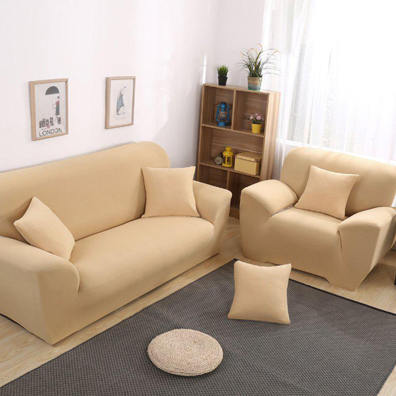 Anti-Skid and All-Wrapped Sofa Cover - BEIGE FOUR SEATS SOFA:235CM-300CM