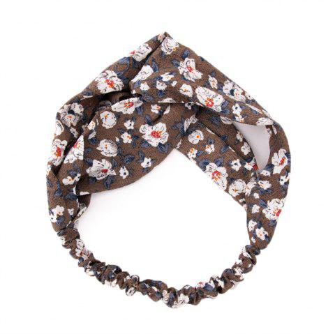 Solid Color Flowers Home Wash Simple Fashion Knotted Hairband - DEEP BROWN