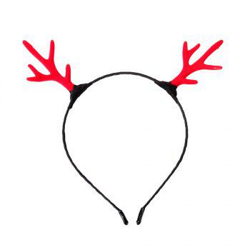 Campus Student Fashion Solid Color Simple Antler Headband - RED