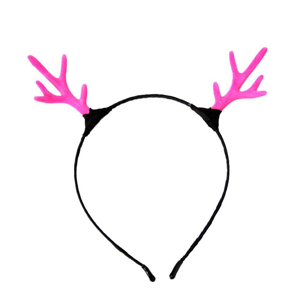 Campus Student Fashion Solid Color Simple Antler Headband - BLOSSOM PINK