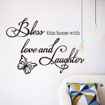BLESS New Butterfly Rumors Removable Wall Sticker - BLACK