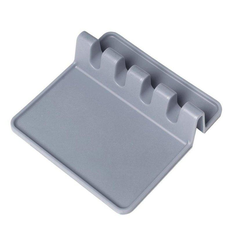 Kitchen Silicone Utensil Rest - DARK GRAY