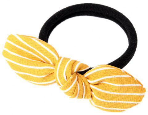 Solid Color Strip Rubber Band Bow Rope - YELLOW