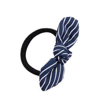 Solid Color Strip Rubber Band Bow Rope - CADETBLUE