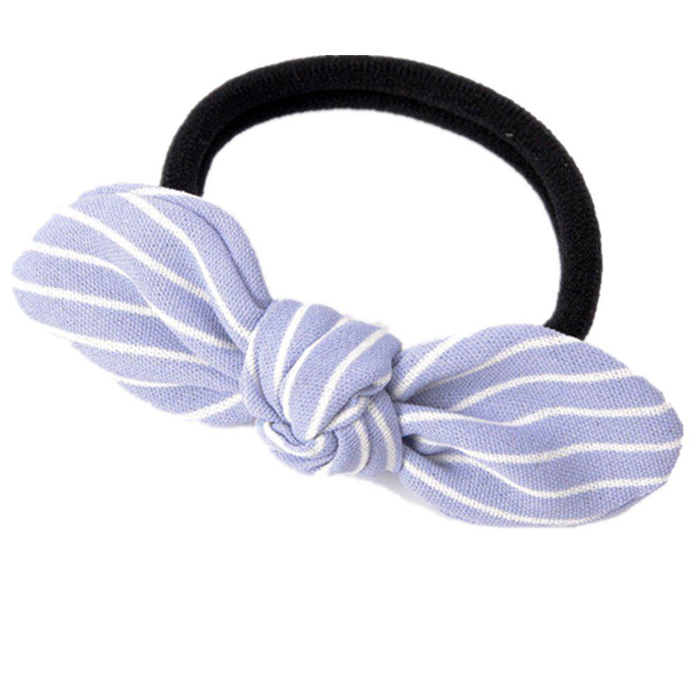 Solid Color Strip Rubber Band Bow Rope - SEA BLUE