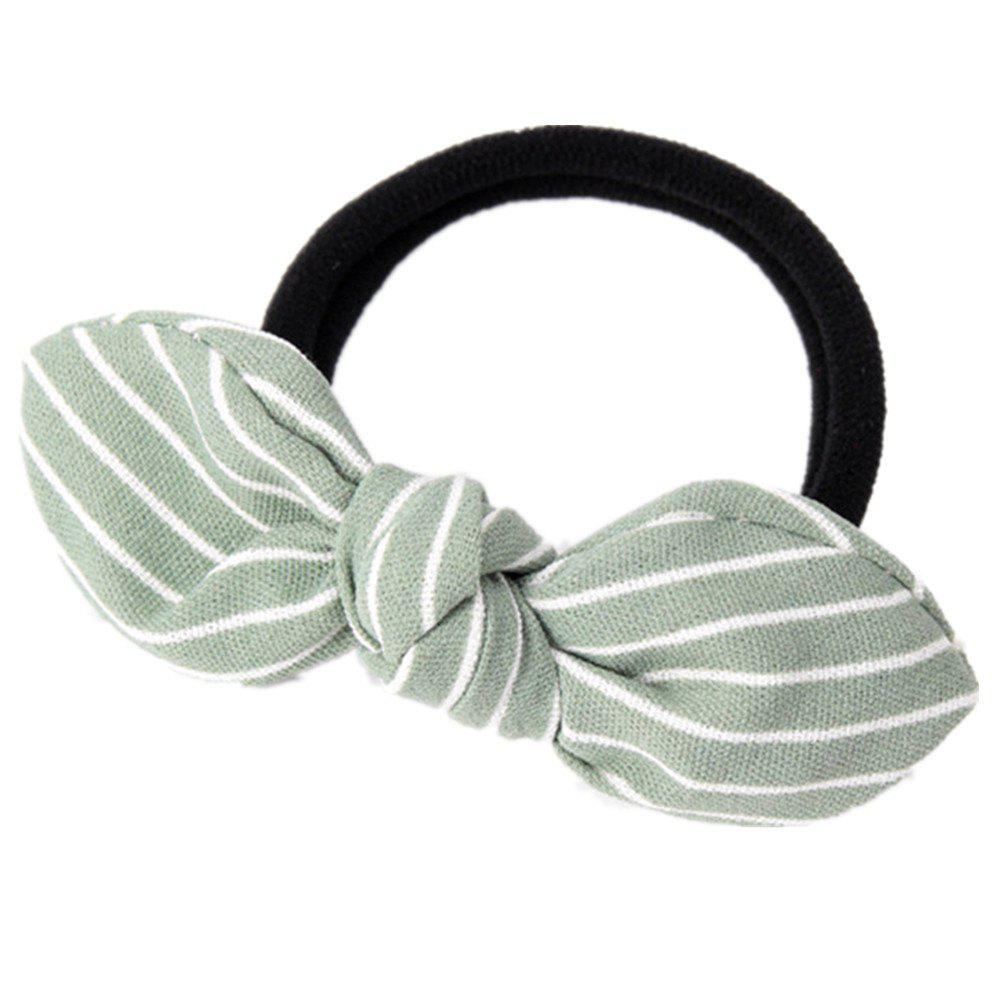 Solid Color Strip Rubber Band Bow Rope - GREEN THUMB